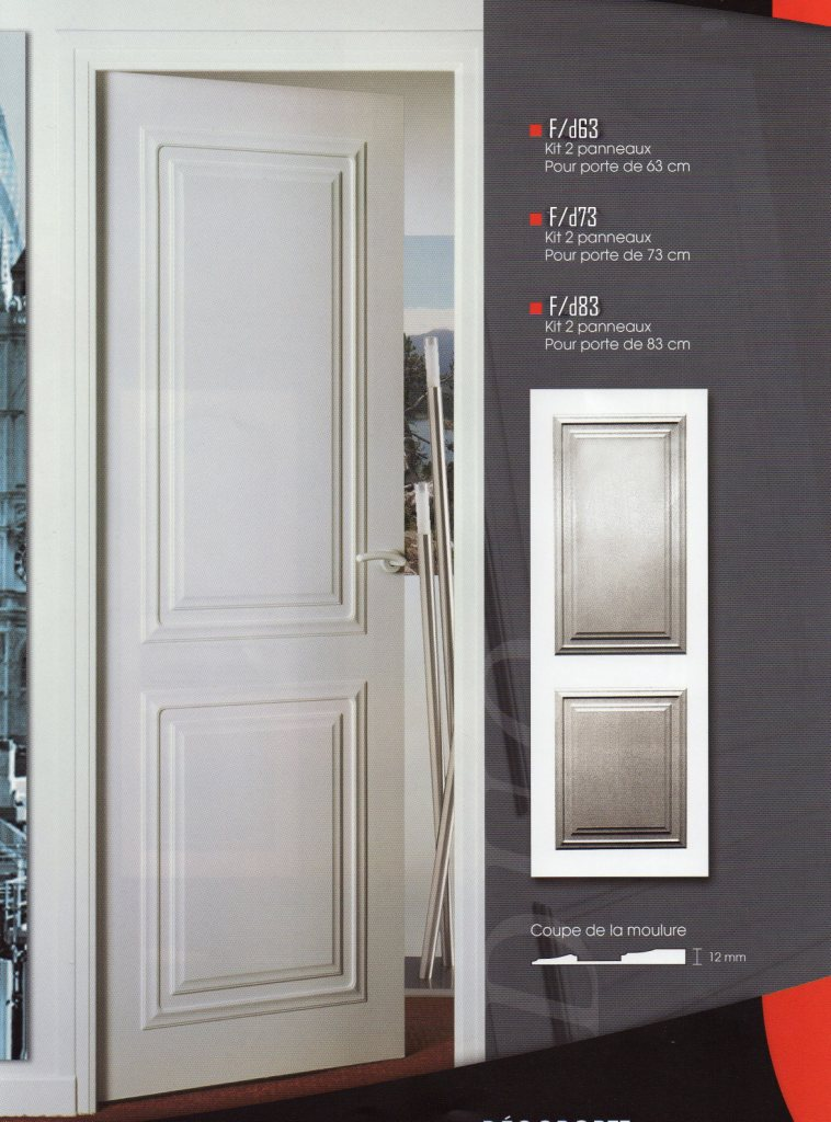 Habillage de portes decoration de porte porte moderne for Decoration a coller sur porte